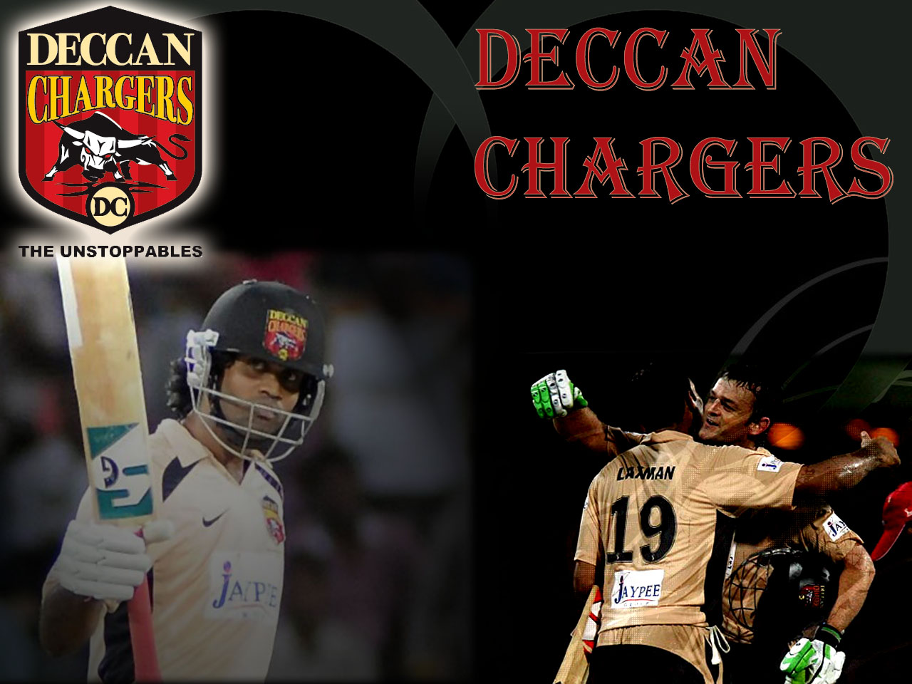 """The Unstoppable"" Deccan Chargers Wallpaper"