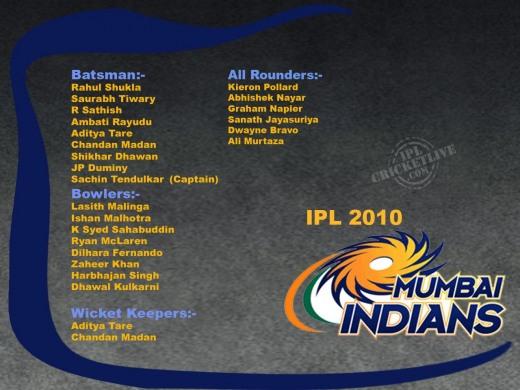 Mumbai Indians IPL 2010
