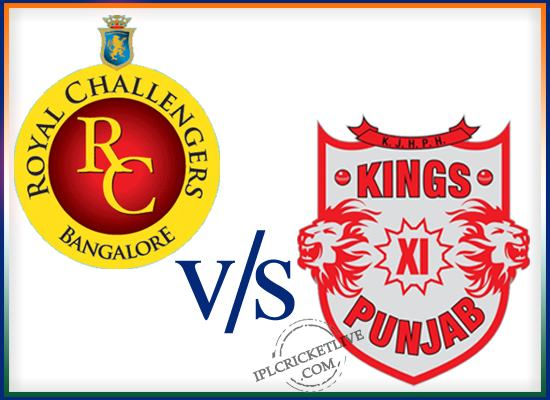match 50-kings XI Pnjab-vs- royal challengers Banglore
