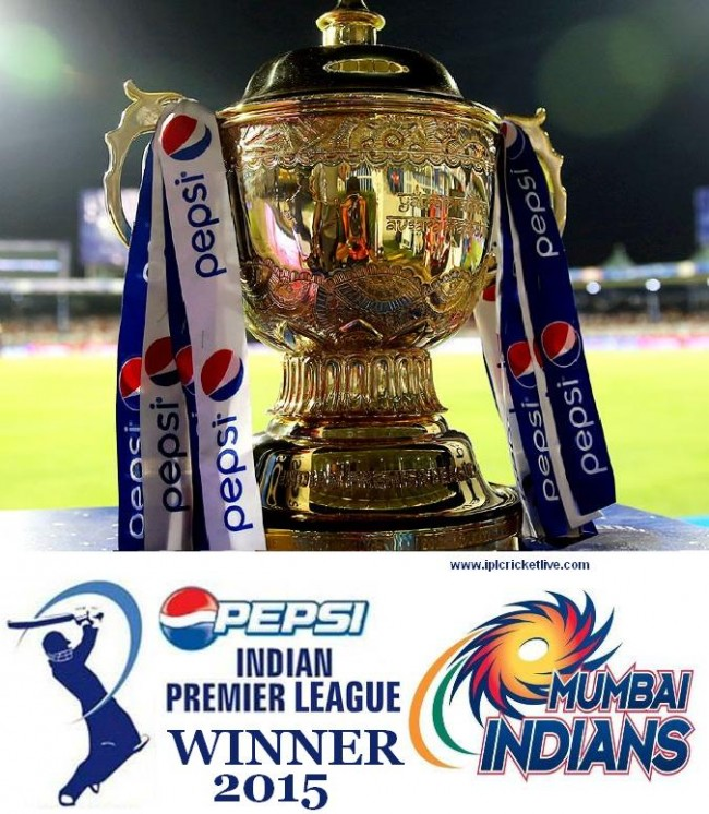 Mumbai Indians Winner of IPL 2015